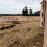 dirt lawn area under construction