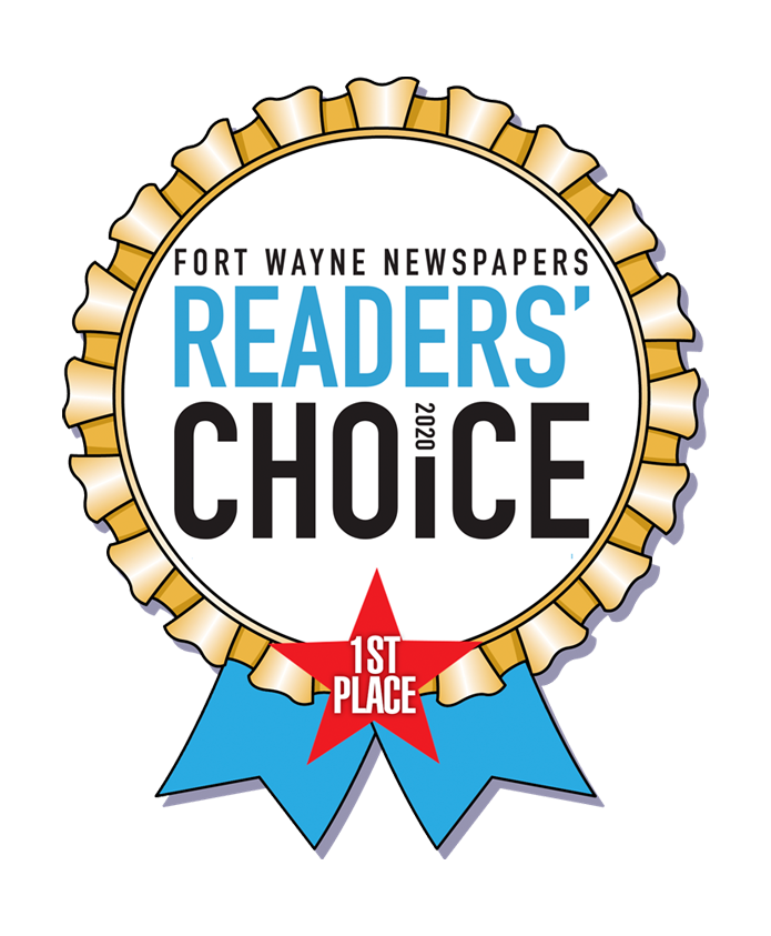Fort Wayne Newspaper Readers' Choice– 1st Place